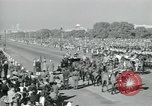 Image of Jawaharlal Nehru at Republic Day parade New Delhi India, 1950, second 41 stock footage video 65675022163