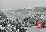 Image of Jawaharlal Nehru at Republic Day parade New Delhi India, 1950, second 48 stock footage video 65675022163
