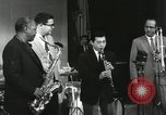 Image of Japanese instrumentalists join the Goodman band Japan, 1957, second 62 stock footage video 65675022215