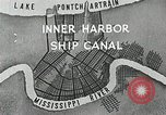 Image of Ship entering the inner harbor canal New Orleans Louisiana USA, 1929, second 8 stock footage video 65675022220