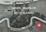Image of Ship entering the inner harbor canal New Orleans Louisiana USA, 1929, second 9 stock footage video 65675022220