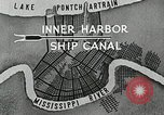 Image of Ship entering the inner harbor canal New Orleans Louisiana USA, 1929, second 10 stock footage video 65675022220