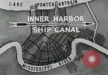Image of Ship entering the inner harbor canal New Orleans Louisiana USA, 1929, second 12 stock footage video 65675022220