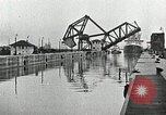 Image of Ship entering the inner harbor canal New Orleans Louisiana USA, 1929, second 35 stock footage video 65675022220