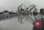 Image of Ship entering the inner harbor canal New Orleans Louisiana USA, 1929, second 40 stock footage video 65675022220
