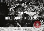 Image of Rifle squad in Defense Part II United States USA, 1965, second 43 stock footage video 65675022238