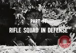 Image of Rifle squad in Defense Part II United States USA, 1965, second 44 stock footage video 65675022238