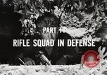 Image of Rifle squad in Defense Part II United States USA, 1965, second 45 stock footage video 65675022238