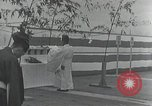 Image of Commisioning ceremony of Japanese aircraft carrier Hiryu Yokosuka Japan, 1940, second 34 stock footage video 65675022299