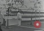 Image of Commisioning ceremony of Japanese aircraft carrier Hiryu Yokosuka Japan, 1940, second 61 stock footage video 65675022299