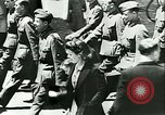 Image of Legion of French Volunteer LVF soldiers collaborating with Germany Versailles France, 1941, second 18 stock footage video 65675022362