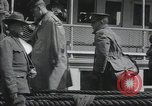 Image of Wounded US Army soldiers disembark from a steamer New York City Harbor USA, 1919, second 37 stock footage video 65675022382