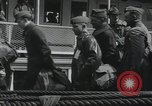 Image of Wounded US Army soldiers disembark from a steamer New York City Harbor USA, 1919, second 42 stock footage video 65675022382
