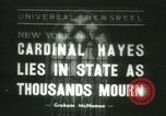 Image of Saint Patrick Cardinal Hayes New York United States USA, 1938, second 1 stock footage video 65675022386