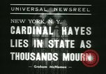 Image of Saint Patrick Cardinal Hayes New York United States USA, 1938, second 3 stock footage video 65675022386