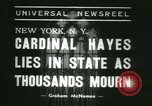 Image of Saint Patrick Cardinal Hayes New York United States USA, 1938, second 4 stock footage video 65675022386