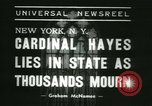 Image of Saint Patrick Cardinal Hayes New York United States USA, 1938, second 7 stock footage video 65675022386