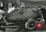 Image of Byron Connett in small submarine Michigan City Indiana USA, 1938, second 5 stock footage video 65675022389