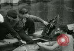 Image of Byron Connett in small submarine Michigan City Indiana USA, 1938, second 14 stock footage video 65675022389