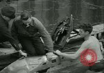 Image of Byron Connett in small submarine Michigan City Indiana USA, 1938, second 15 stock footage video 65675022389