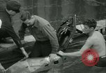 Image of Byron Connett in small submarine Michigan City Indiana USA, 1938, second 16 stock footage video 65675022389