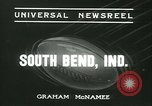 Image of Notre Dame versus Carnegie Tech football South Bend Indiana USA, 1936, second 2 stock footage video 65675022420