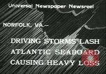 Image of storm lashes Atlantic seaboard Norfolk Virginia USA, 1933, second 1 stock footage video 65675022451