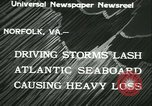 Image of storm lashes Atlantic seaboard Norfolk Virginia USA, 1933, second 2 stock footage video 65675022451
