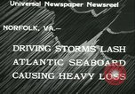 Image of storm lashes Atlantic seaboard Norfolk Virginia USA, 1933, second 4 stock footage video 65675022451