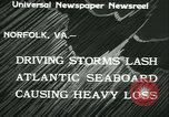 Image of storm lashes Atlantic seaboard Norfolk Virginia USA, 1933, second 5 stock footage video 65675022451