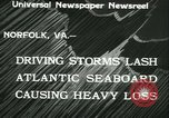Image of storm lashes Atlantic seaboard Norfolk Virginia USA, 1933, second 7 stock footage video 65675022451