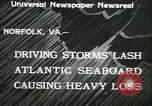 Image of storm lashes Atlantic seaboard Norfolk Virginia USA, 1933, second 8 stock footage video 65675022451