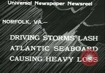 Image of storm lashes Atlantic seaboard Norfolk Virginia USA, 1933, second 11 stock footage video 65675022451