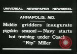 Image of US Naval Academy football Annapolis Maryland USA, 1931, second 4 stock footage video 65675022465