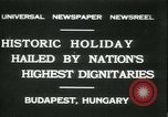 Image of Admiral Horthy and Count Karyoli Budapest Hungary, 1931, second 1 stock footage video 65675022466