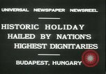 Image of Admiral Horthy and Count Karyoli Budapest Hungary, 1931, second 2 stock footage video 65675022466