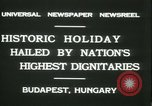 Image of Admiral Horthy and Count Karyoli Budapest Hungary, 1931, second 8 stock footage video 65675022466