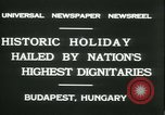 Image of Admiral Horthy and Count Karyoli Budapest Hungary, 1931, second 10 stock footage video 65675022466