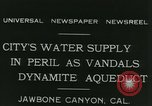 Image of Los Angeles Aqueduct Pipeline Jawbone Canyon, 1931, second 4 stock footage video 65675022470
