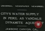 Image of Los Angeles Aqueduct Pipeline Jawbone Canyon, 1931, second 6 stock footage video 65675022470