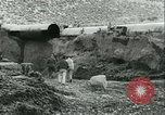 Image of Los Angeles Aqueduct Pipeline Jawbone Canyon, 1931, second 14 stock footage video 65675022470