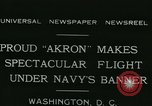 Image of Navy dirigible Akron Washington DC USA, 1931, second 3 stock footage video 65675022476