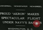 Image of Navy dirigible Akron Washington DC USA, 1931, second 5 stock footage video 65675022476