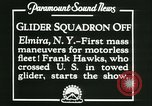Image of Motor-less glider aircraft Elmira New York USA, 1931, second 5 stock footage video 65675022477