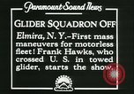 Image of Motor-less glider aircraft Elmira New York USA, 1931, second 12 stock footage video 65675022477