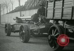 Image of Artillery and howitzers being towed Nantes France, 1918, second 58 stock footage video 65675022480