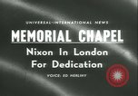 Image of Vice President and Mrs Nixon London England United Kingdom, 1958, second 5 stock footage video 65675022485