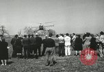 Image of Igor Sikorsky sets new record in Vought-Sikorsky VS-300 helicopter Stratford Connecticut USA, 1941, second 42 stock footage video 65675022494