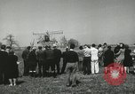 Image of Igor Sikorsky sets new record in Vought-Sikorsky VS-300 helicopter Stratford Connecticut USA, 1941, second 44 stock footage video 65675022494