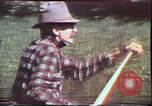 Image of Birch tree Canoe United States USA, 1975, second 17 stock footage video 65675022754